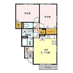 マーメイドラグーン[1階]の間取り