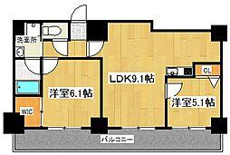 ALTA京都堀川ウインドア[8階]の間取り