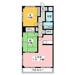 イーストプラザ[2階]の間取り