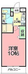 神奈川県藤沢市片瀬3丁目の賃貸マンションの間取り