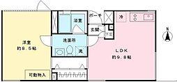 Hi-ROOMS新代田[1階]の間取り
