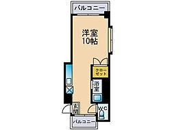 ハッピーフォーエバー六本松[1階]の間取り