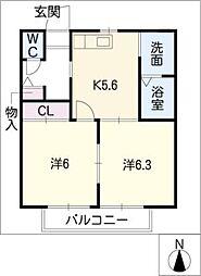 ネオシティ弐番館[2階]の間取り