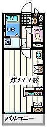 埼玉県吉川市吉川の賃貸アパートの間取り