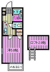 ラ・メールII[2階]の間取り