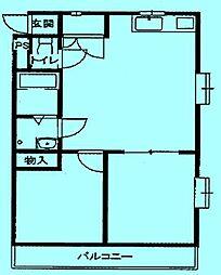 ミラージュ登戸[2階]の間取り