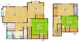 [一戸建] 福岡県福岡市西区福重5丁目 の賃貸【/】の間取り