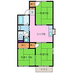 倉田アパート[1階]の間取り