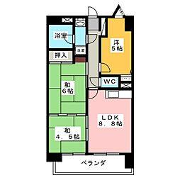 アーバンハイツ富吉[4階]の間取り