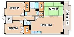 兵庫県神戸市西区上新地2丁目の賃貸マンションの間取り