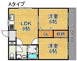 マンションマウンテン御崎[2階]の間取り