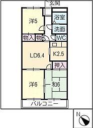 オレンジタウン[1階]の間取り