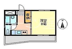 立花マンション[4階]の間取り