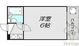 レアレア梅田5番館[2階]の間取り