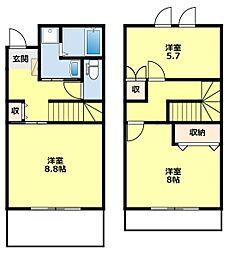 [タウンハウス] 愛知県豊田市高上1丁目 の賃貸【/】の間取り