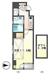 カーサルカ(Casa Luca)[5階]の間取り
