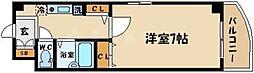 ラフォーレ野江内代 3階1Kの間取り