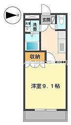 岡山県倉敷市玉島乙島丁目なしの賃貸マンションの間取り