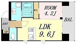 第26関根マンション 3階1LDKの間取り