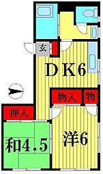 栄喜ビル[4階]の間取り