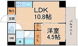 ロイヤル十三[2階]の間取り