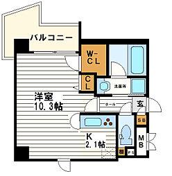 KAISEI大手前[7階]の間取り