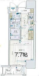 レジュールアッシュ梅田リュクス 11階1Kの間取り