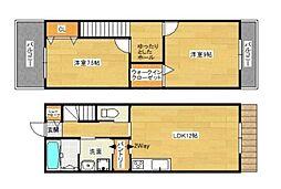 [テラスハウス] 福岡県大野城市乙金2丁目 の賃貸【/】の間取り