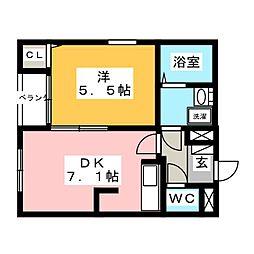 ヒルトップYKC[1階]の間取り