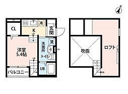 サンク エトワール ヨシヅカ[1階]の間取り