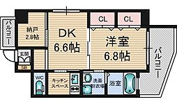 アーバンテラス新大阪[5階]の間取り