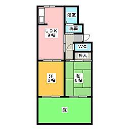 ヤマヨシハウス[1階]の間取り