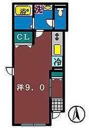 エスポアール(大久保)[105号室]の間取り