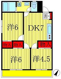 K's FLAT3[3階]の間取り