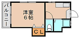 サンフラワー吉塚[4階]の間取り