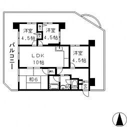 パラツィーナ小阪[201号室号室]の間取り