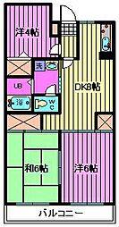 コアロード与野[4階]の間取り
