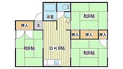 ハイネスKII[2階]の間取り