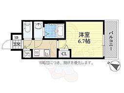 メインステージ名古屋ノースマーク 9階1Kの間取り