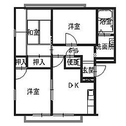 リッチネス阪南B[1階]の間取り