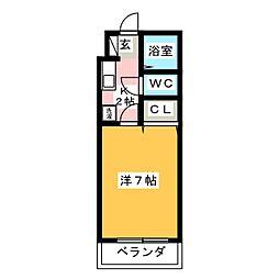 シャトー天神弐番館[1階]の間取り