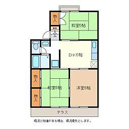 メゾンドール[1階]の間取り