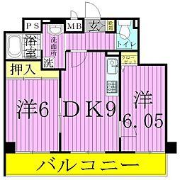 Circolare Ayase[6階]の間取り