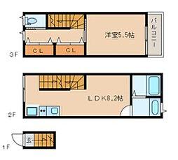 アイコート小金井本町[2階]の間取り