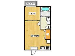 YS maison BRIGHT[3階]の間取り