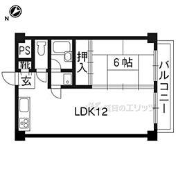 近鉄京都線 大久保駅 バス20分 久御山町役場前下車 徒歩1分の賃貸マンション 2階1LDKの間取り