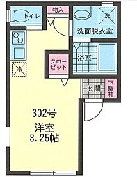 Nuage井土ヶ谷[1階]の間取り