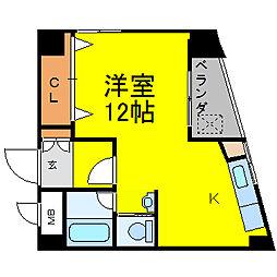 ラッフル徳川[606号室]の間取り