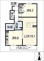 シャーメゾン別府 A棟[1階]の間取り