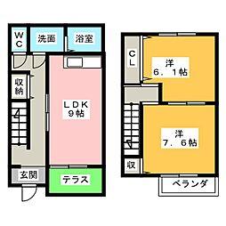 [テラスハウス] 静岡県浜松市中区早出町 の賃貸【/】の間取り